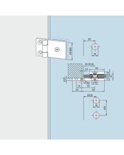 Anschraubband mit 3 Kappen,H 49mm LM Niro 157
