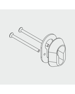 Sicherheitsrosette 12 mm, für Profilzylinder 17/61 mm, Chromnickel-Stahl