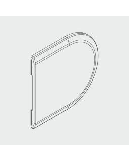 Abdeckkappe rund, zu Gegenkasten, KS Edelstahl-Effekt (1 Stück)
