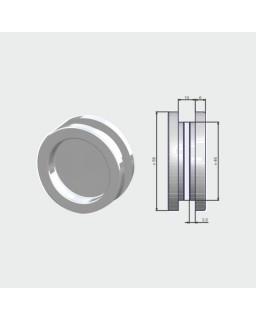 Griffmuschelpaar, Edelstahl 1.4305