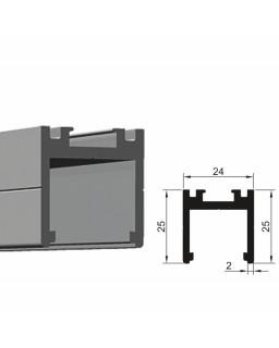 Trockenverglasungsprofil, 6000mm, Eloxiert E6/EV1