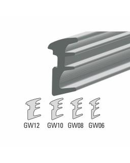 Trockenverglasungsgummi, Rolle 12,5m, für 8-8,76mm, silber