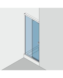 Duschsystem GRAL SO 730, Set 300, silberfarbig eloxiert