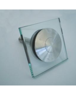 Fassadenhalter aufgesetzt, beweglich, DM 80 mm, Glas 8 - 25,75 mm