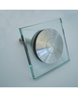 Fassadenhalter aufgesetzt, starr, DM 80 mm, Glas 8 - 25,75 mm